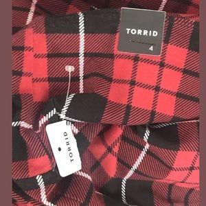 torrid Skirts - SOLD Torrid Red Plaid Stretchy Pencil Skirt NWT